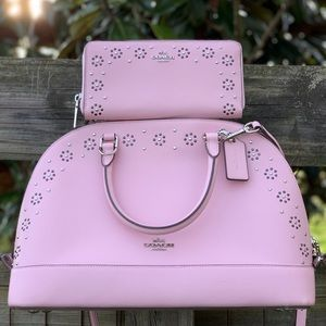 Coach 37238 Pink Studded Dome Sierra Bag & Wallet
